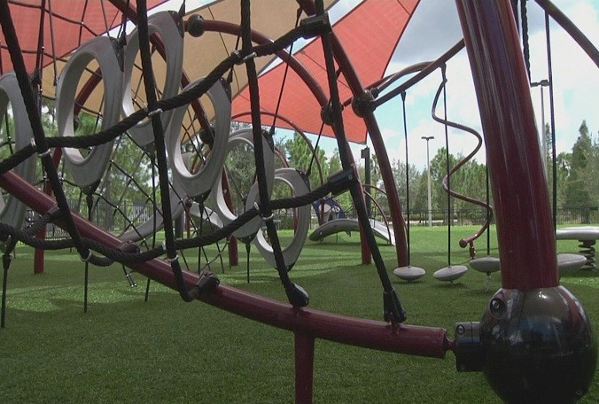 Tampa Parks Installing Sensory Playground Equipment