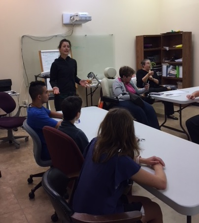 Independent Living Skills Students Planning Garden at DAC