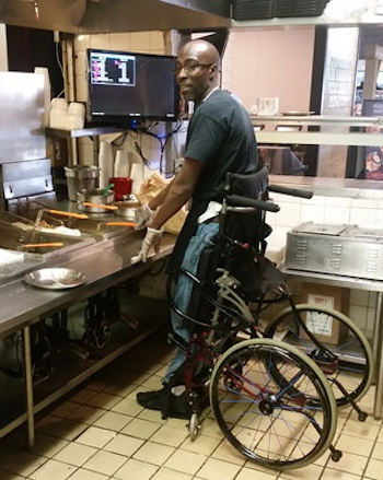 Chef with Disabilities Continues Career Using Stand-Up Wheelchair