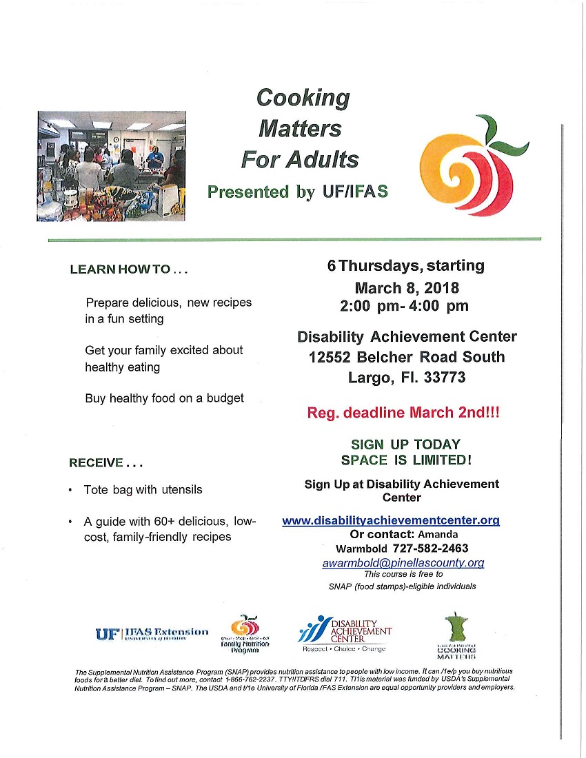 "DAC Offers Popular ""Cooking Matters"" Class!"