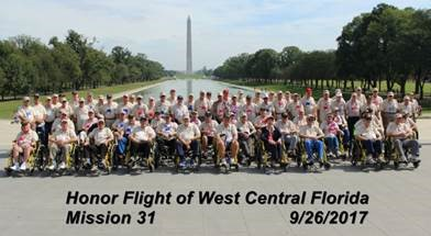 April 24th @ 8pm Welcome Home Celebration for Honor Flight of West Central Florida