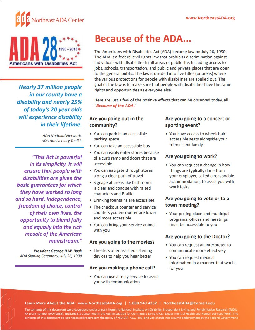 Celebrating the 28th Anniversary of the Signing of the ADA!