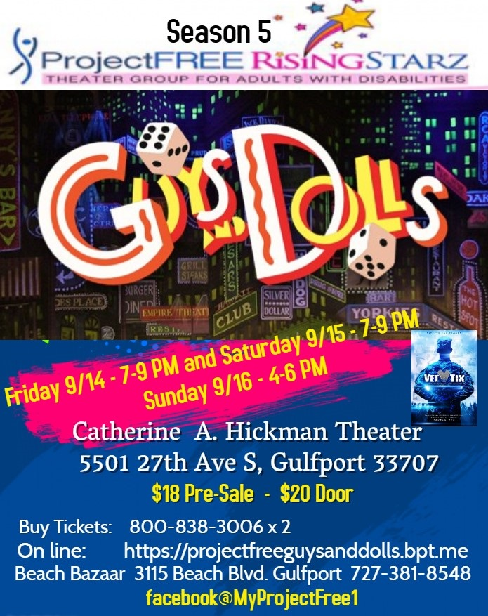 Guys n Dolls Stage Play 9/14-16 in Gulfport Features Actors with Disabilities!